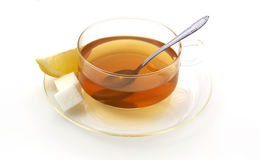 Tea width lemon and sugar Stock Photography