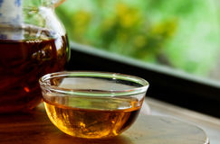 Tea by the window Stock Photos