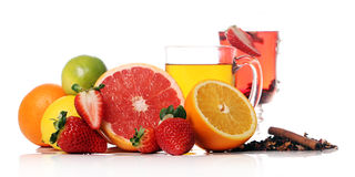 Tea With Fresh Fruits Stock Images