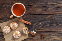 Tea With Gingerbreads Royalty Free Stock Photography