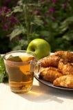 Tea With Roll Stock Photos