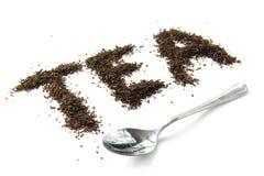 Tea With Spoon Stock Photos