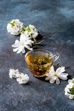Tea With Spring Flowers Royalty Free Stock Photography