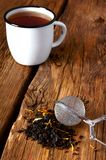 Tea on wooden board Royalty Free Stock Photography