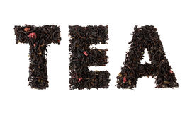 Tea word Stock Image