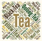 Tea word cloud concept Stock Image