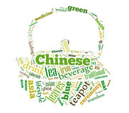 Tea word cloud Stock Image