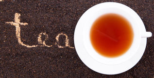 Tea Word On Dried Tea Leaves III Royalty Free Stock Image
