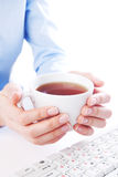 Tea at work Royalty Free Stock Images