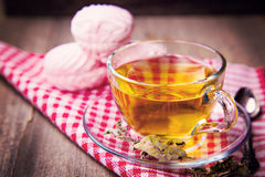 Tea with zephyr Royalty Free Stock Images