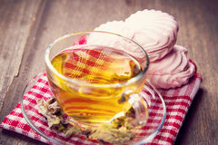 Tea with zephyr Stock Photography