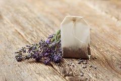 Teabag με lavender Στοκ φωτογραφία με δικαίωμα ελεύθερης χρήσης