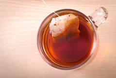 Teabag in cup Royalty Free Stock Images