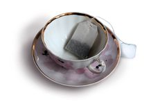 Teabag in the cup Stock Photos