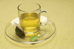 Teabag On Cup And Saucer Stock Images
