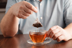 Free Teabag In The Cup With Hot Water Stock Photo - 88929200