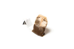 Teabag with label. Isolated Royalty Free Stock Photography