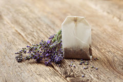 Teabag with lavender Royalty Free Stock Photo