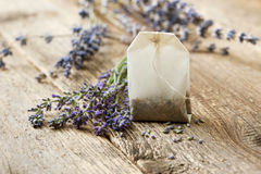 Teabag with lavender Royalty Free Stock Image