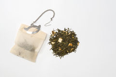 Teabag and tea Stock Photo