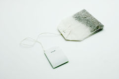 Teabag with white label Stock Image