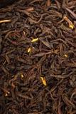 Teabags - Tea bag. Black Tea background, texture dry leaves, tea scented with bergamot oil Macro background Stock Photos