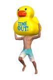 时间Teabreak假期橡胶鸭子例证 库存图片