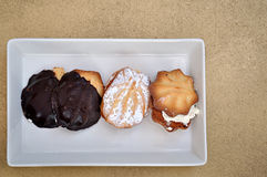 Teacakes on tray Royalty Free Stock Photo
