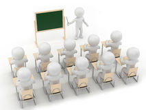 Teach. Render of a teacher and students Stock Photography