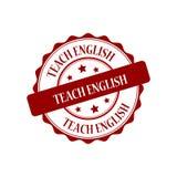 Teach english stamp illustration. Teach english red stamp seal illustration design Royalty Free Stock Photo