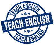 Teach english stamp. Teach english round grunge stamp isolated on white background Royalty Free Stock Photography