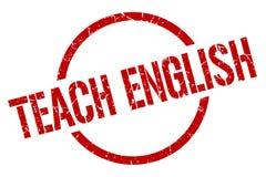 Teach english stamp. Teach english round grunge stamp. teach english sign. teach english stock illustration
