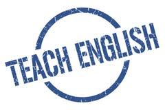 Teach english stamp. Teach english round grunge stamp. teach english sign. teach english vector illustration