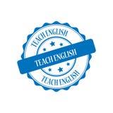 Teach english stamp illustration. Teach english  blue stamp seal illustration design Stock Image
