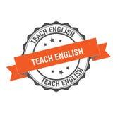 Teach english stamp illustration. Teach english stamp seal illustration design Stock Photos