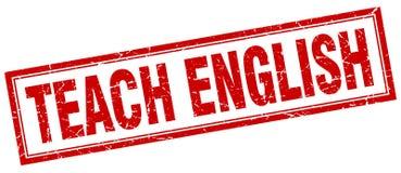Teach english stamp. Teach english square grunge stamp. teach english sign. teach english royalty free illustration