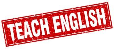 Teach english stamp. Teach english square grunge stamp. teach english sign. teach english stock illustration