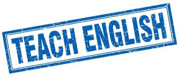 Teach english stamp. Teach english square grunge stamp. teach english sign. teach english vector illustration
