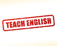 Teach english text stamp. Illustration of teach english text stamp Royalty Free Stock Image