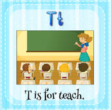 Teach. Flashcard letter T is for teach Stock Images