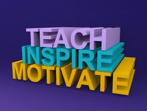 Teach inspira e motiva Imagem de Stock Royalty Free
