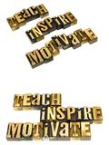 Teach inspire motivate ethics Royalty Free Stock Images