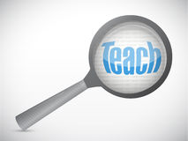 Teach magnify review illustration design Stock Photo