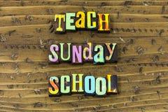 Free Teach Sunday School Leadership Teacher Help Typography Print Royalty Free Stock Image - 144149736