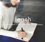 Teach Teaching Education Mentoring Coaching Training Concept Royalty Free Stock Photo