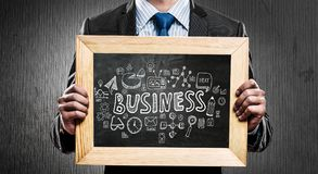 We teach you right business. Mixed media Stock Images