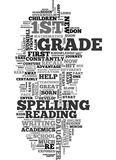 Teach Your First Grader How To Spell Text Background  Word Cloud Concept Stock Photo