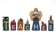 Teacher. The word teacher formed by individual ornamental letters on a white background Royalty Free Stock Image