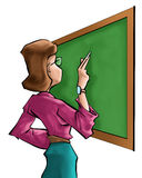 Teacher. A teacher writen in front of blackboard royalty free illustration
