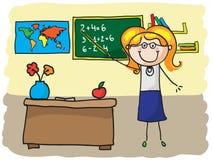 Teacher. Smiling teacher teaching in classroom Stock Images